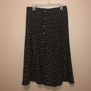 Floral Button Up Skirt